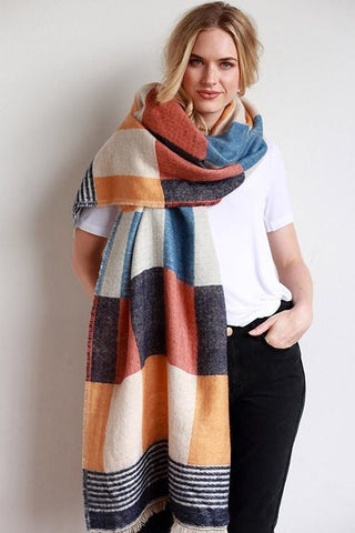 Mustard Colored Oversized Scarf