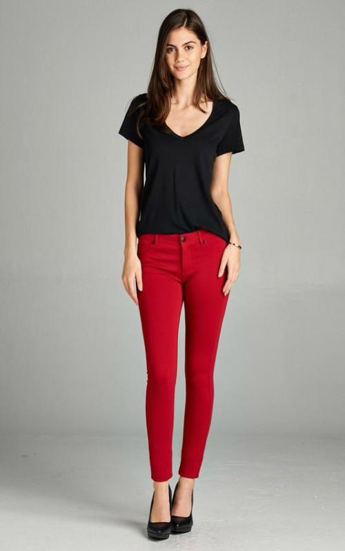 Shape Skinny Jeans in Red