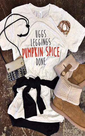 Uggs and Pumpkin Spice Tee in Oatmeal