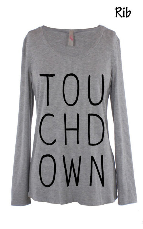 TOUCHDOWN long sleeve tee