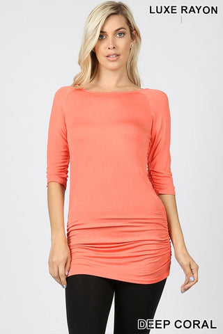 Best By Far Top in Deep Coral