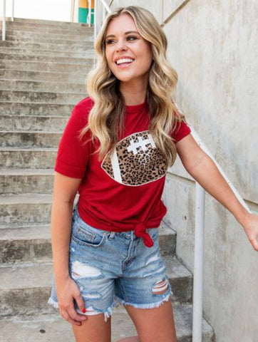 Football Forever Tee in Red