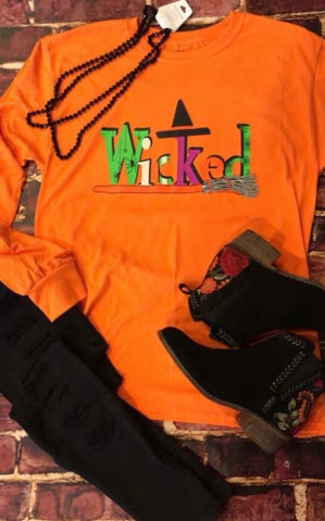 Wicked Halloween Long Sleeved Tee