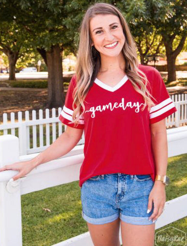 Gameday Diva Tee in Red