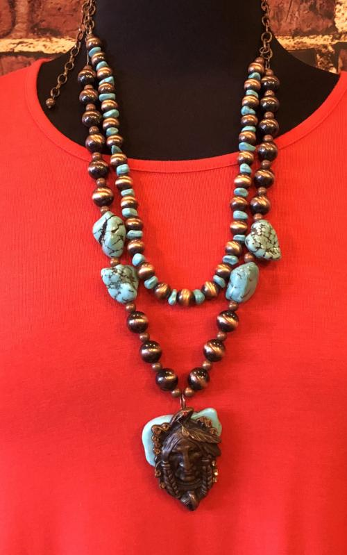 Native American Slab Necklace