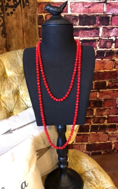 Rock Candy Layered Necklace in Red