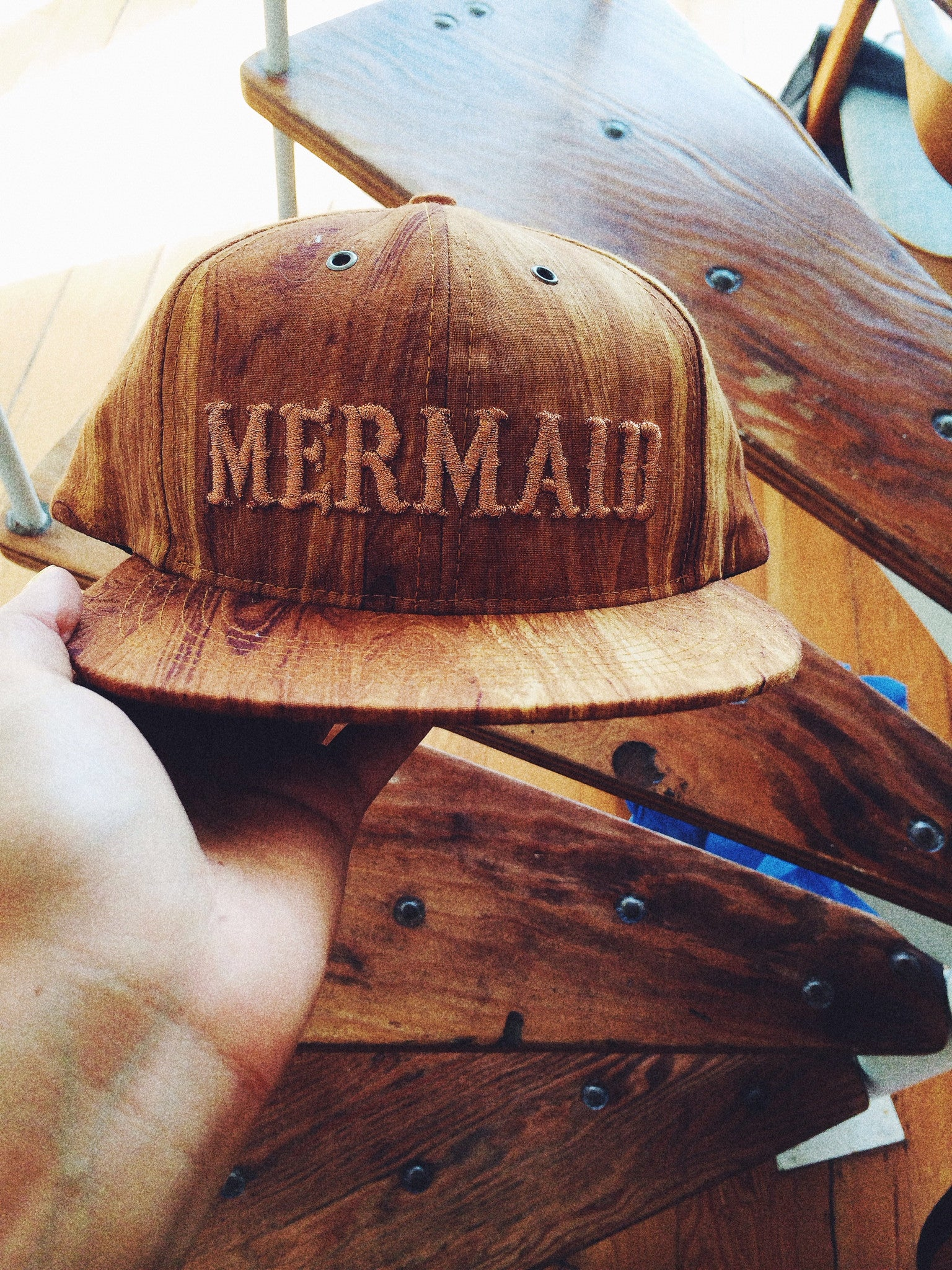 Wood Grain Mermaid SnapBacl
