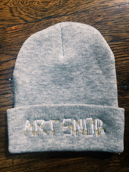 Art Snob Beanie in Cigarette Ash