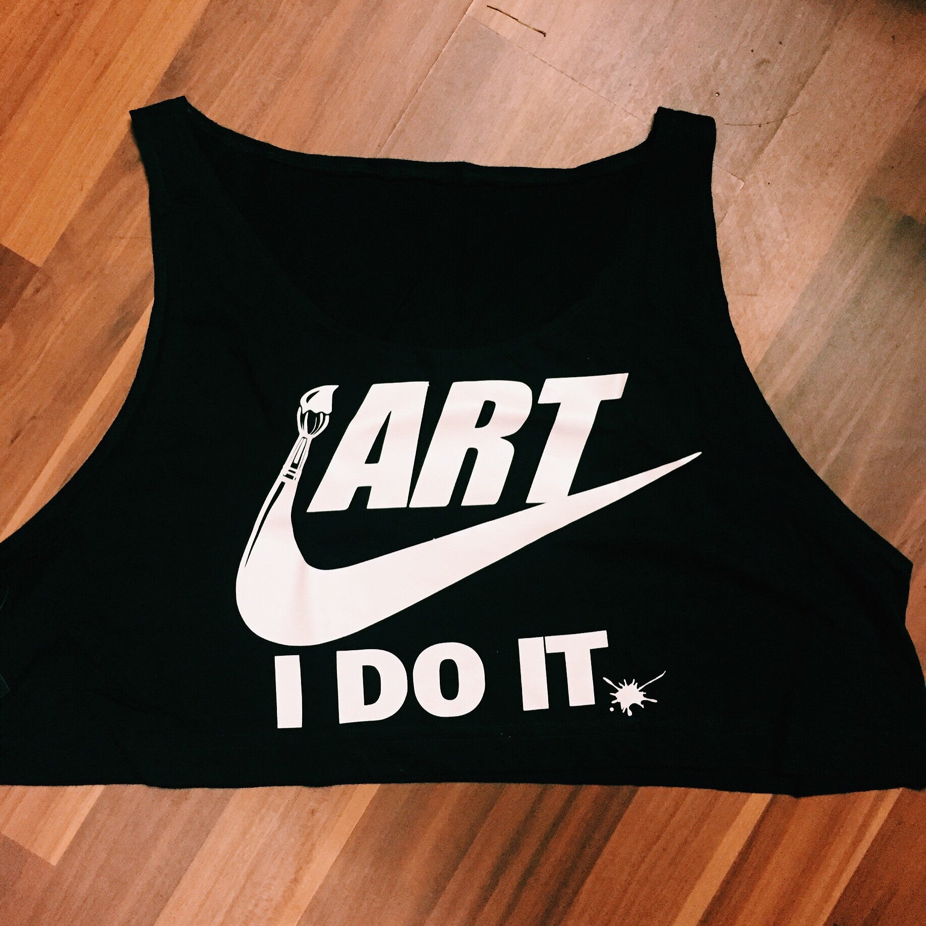 Art, I DO IT... Crop Top