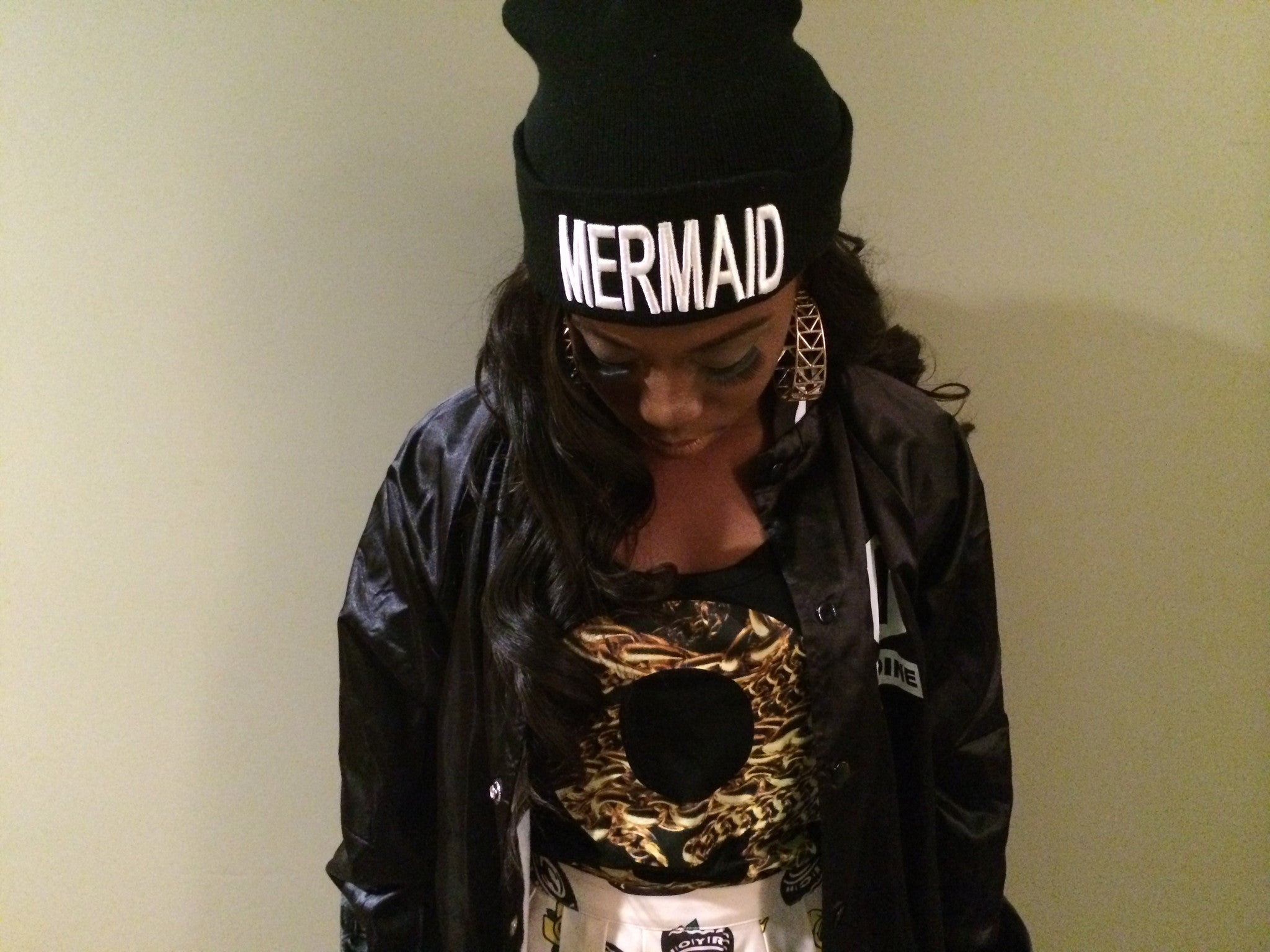 Black Mermaid Beanie