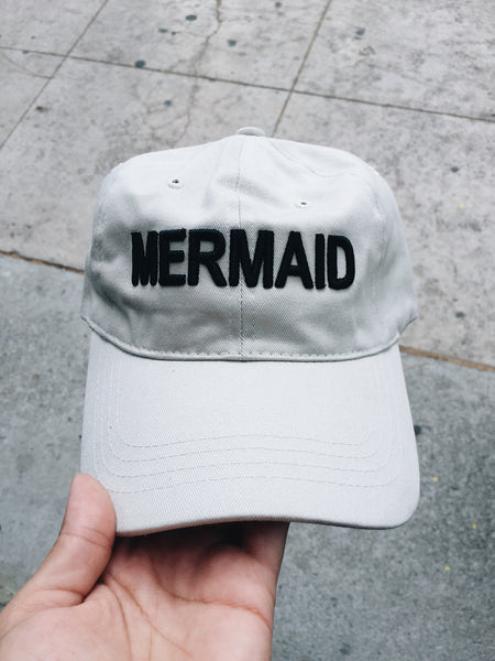 Classic Mermaid Dad Hat in Dove White