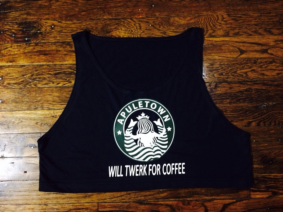 Will Twerk For Coffee Tank Crop Top