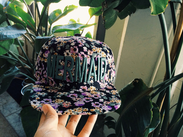 Sea Urchin Mermaid Floral SnapBack