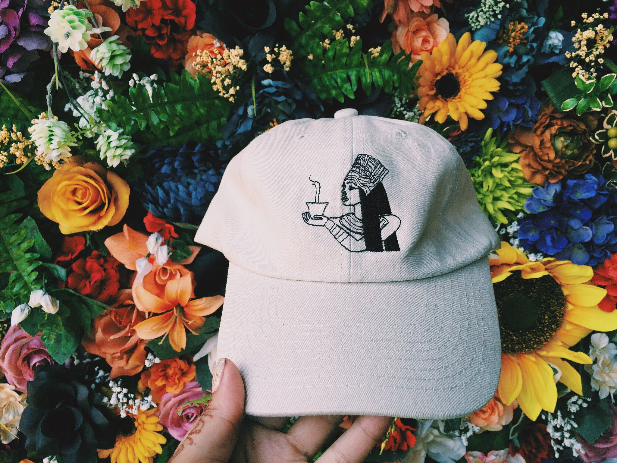 Apule Coffee Dad Hat in Ivory