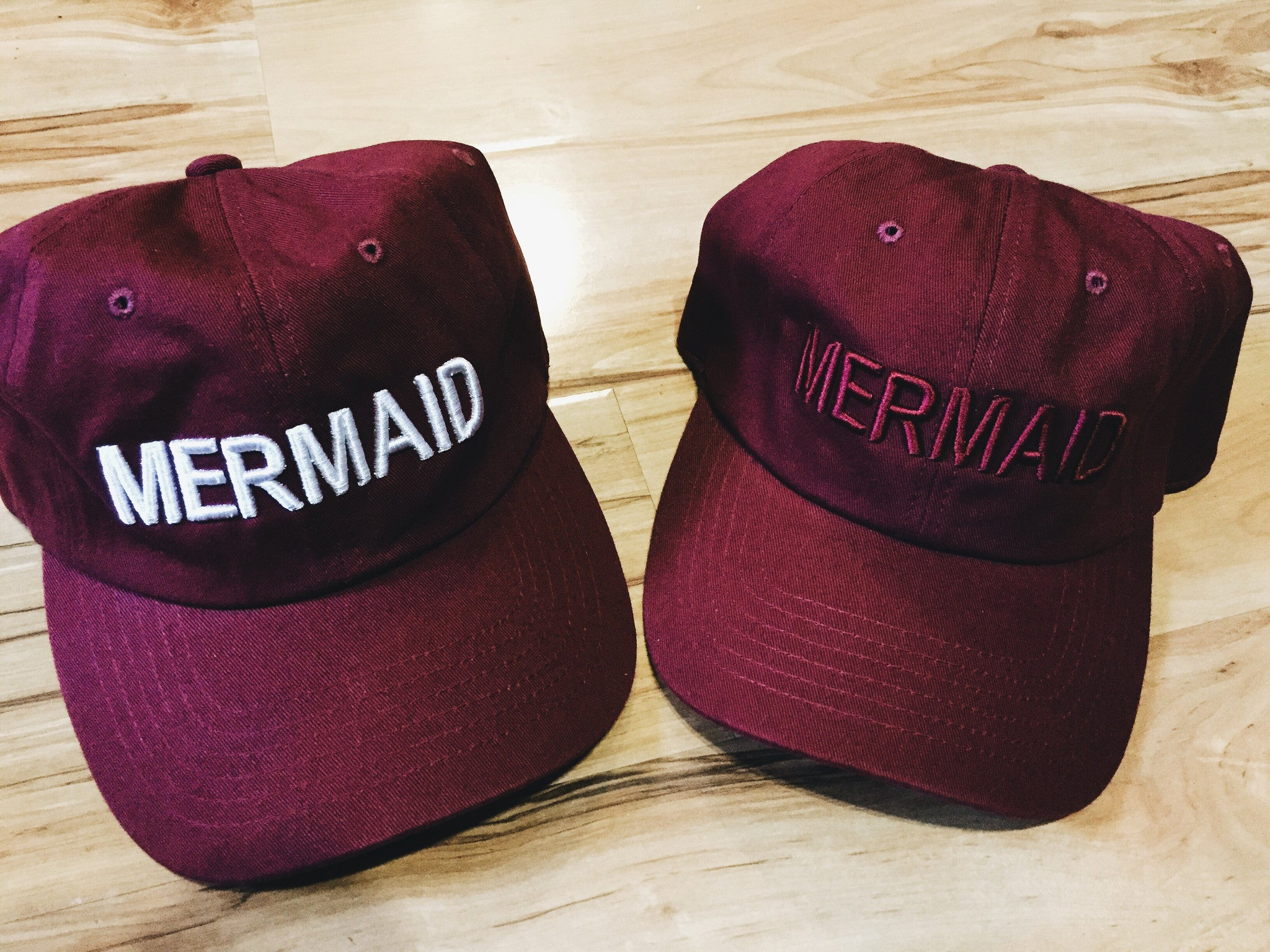 Mermaid Hat in Cranberry