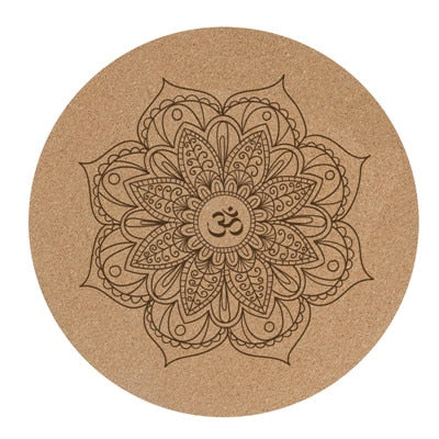 Round Natural Cork Yoga Mat