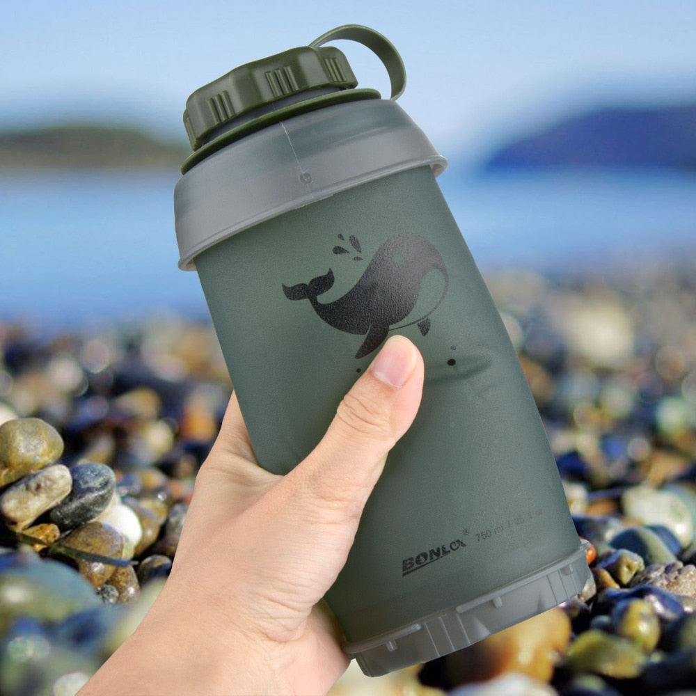 750ml Silicone Collapsable water bottle