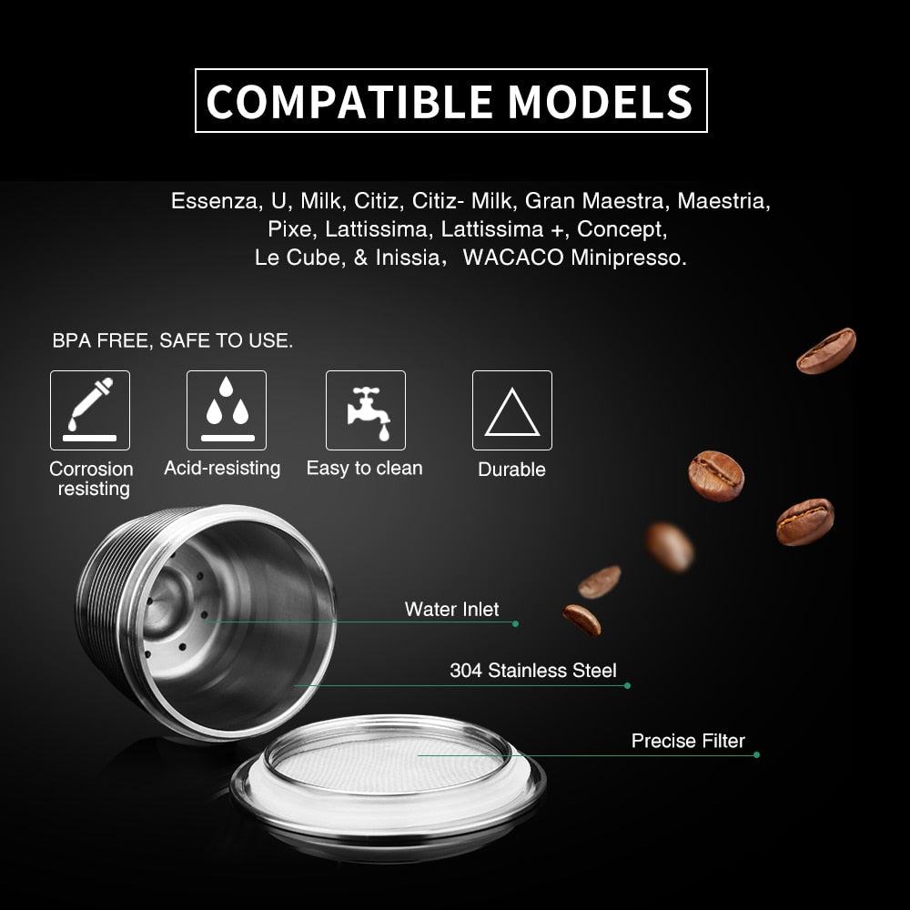 Stainless Steel Nespresso Reusable Capsule