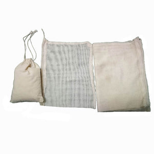 3Pcs Cotton Mesh Produce Bags