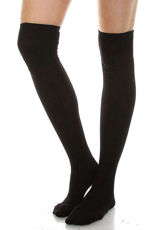 Colorado Chic over the knee boot socks black