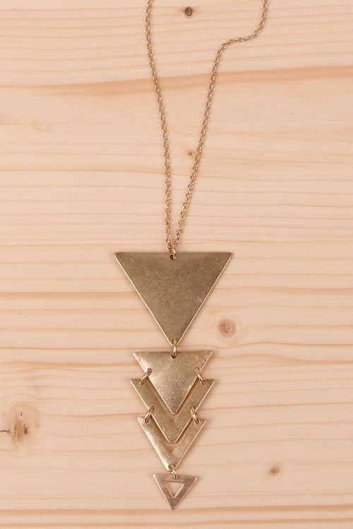 Womens Online worn gold triangle pendant