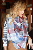 Cute Online falling leaves blanket scarf rust