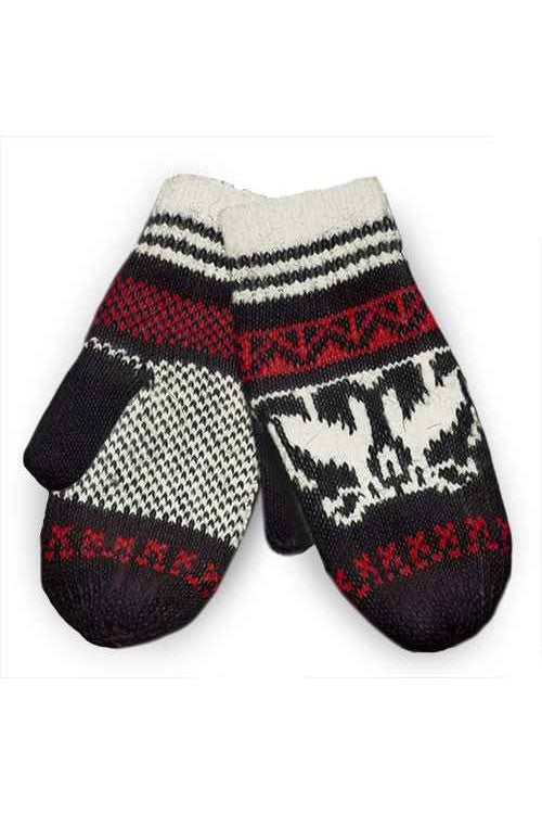 Trendy nordic knit mittens