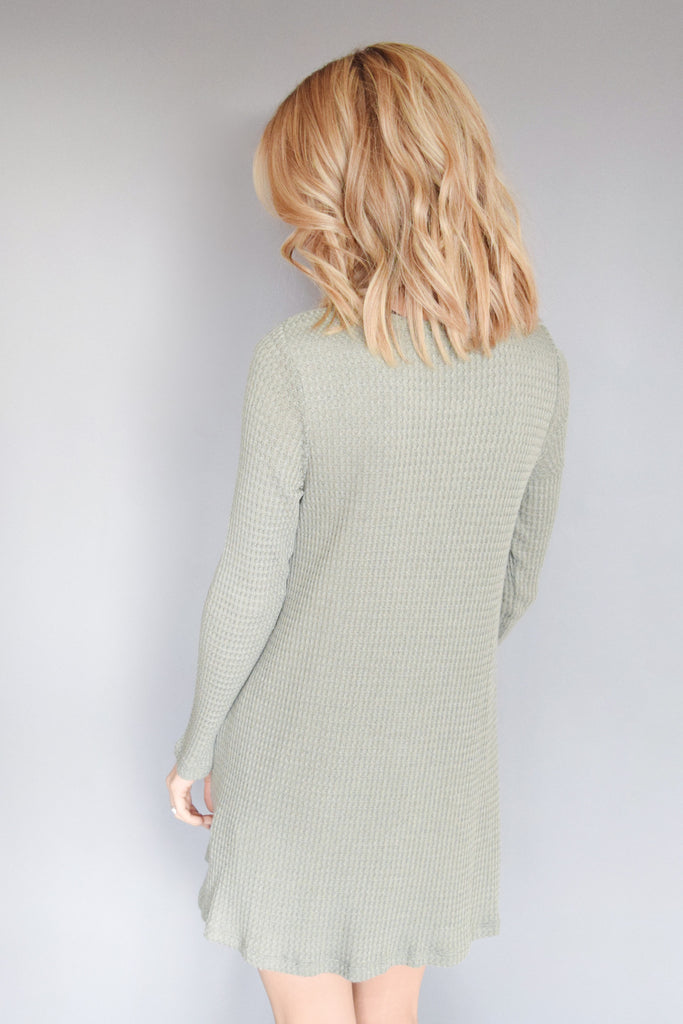 Cute Online snow day thermal tunic dusty sage