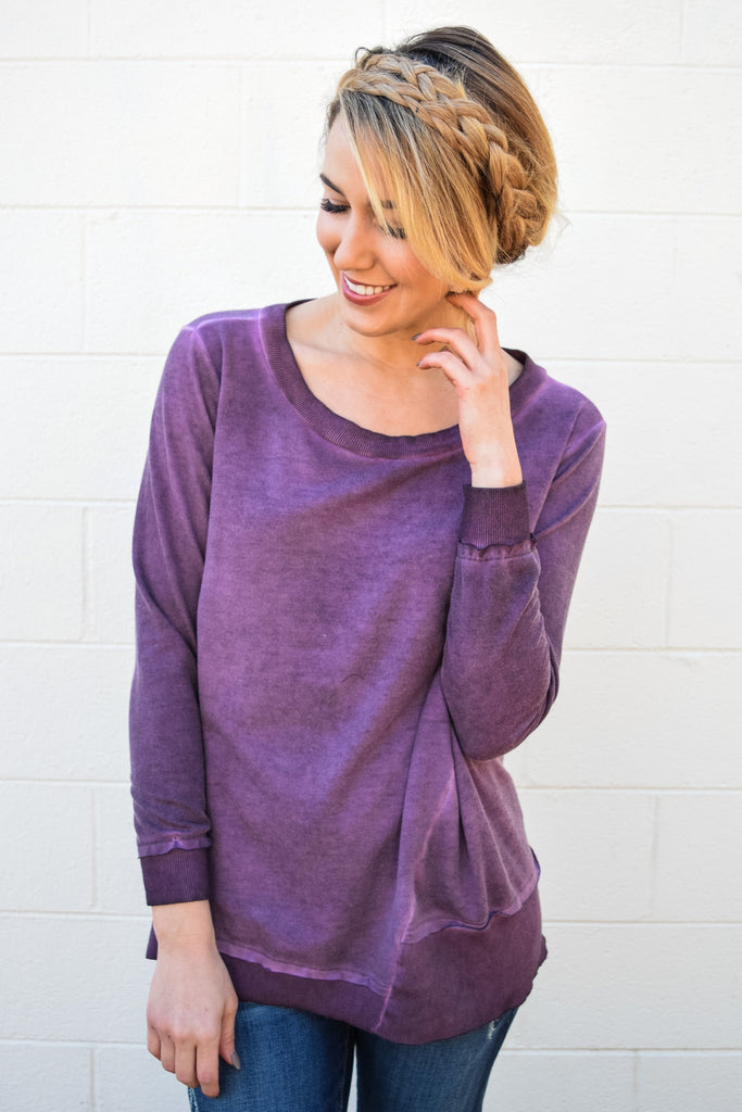 Chic Cool in Colorado Tunic Plum