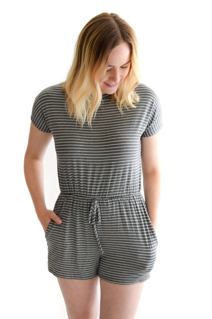 Around Town Stripe Romper