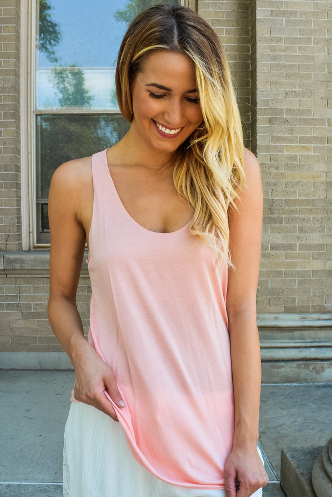 Womens Online Simple and Sweet Tank Top Apricot
