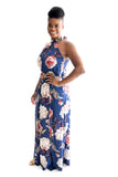 Diamond Head Floral Maxi In Denim