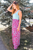 Cute Online fuschia print maxi dress