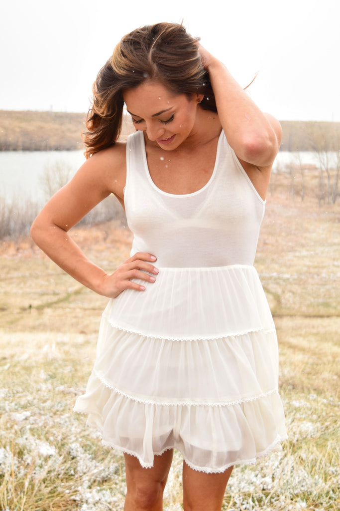 Colorado Chic summer land flare dress ivory