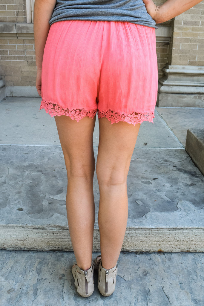 Cute Online lady in lace shorts pink