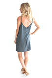 Starry Night Slip Dress In Teal