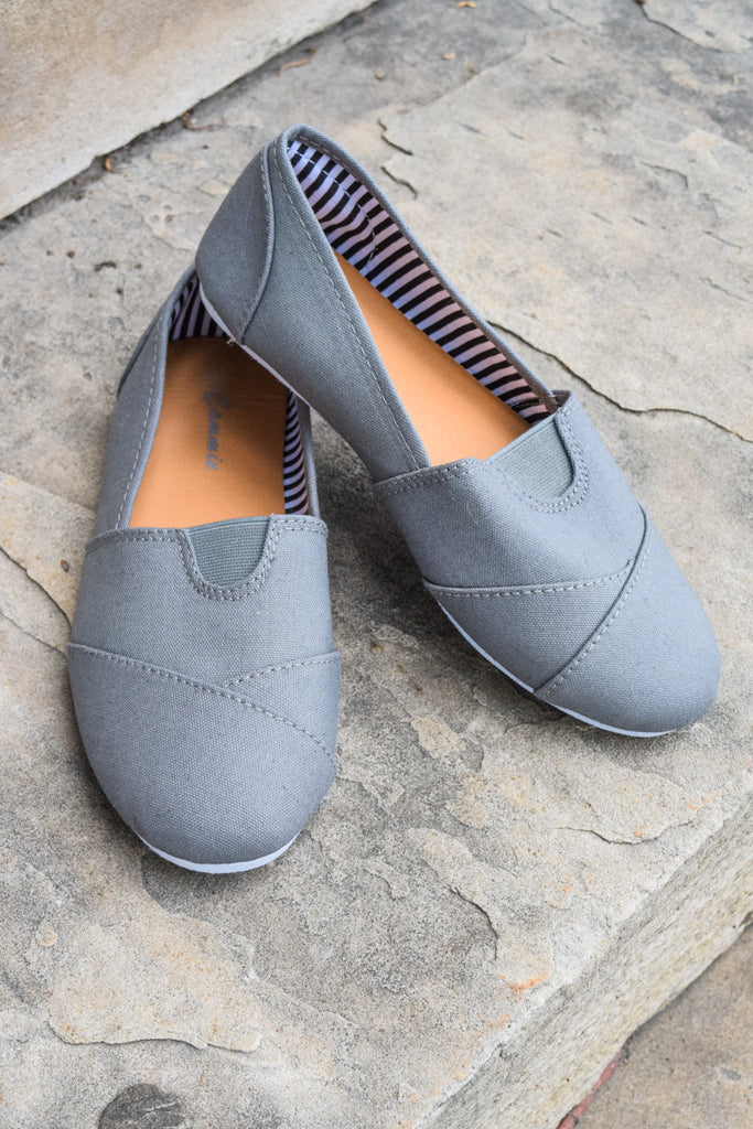 Colorado Chic Grey Canvas Shoe