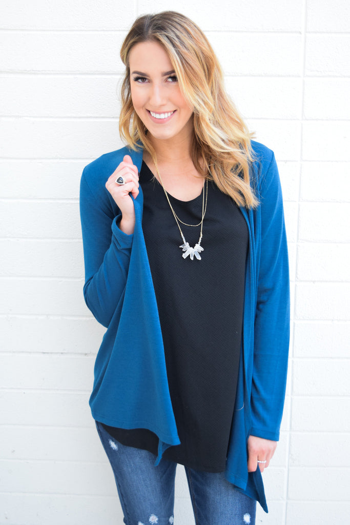 Affordable Online walk in the park cardigan teal
