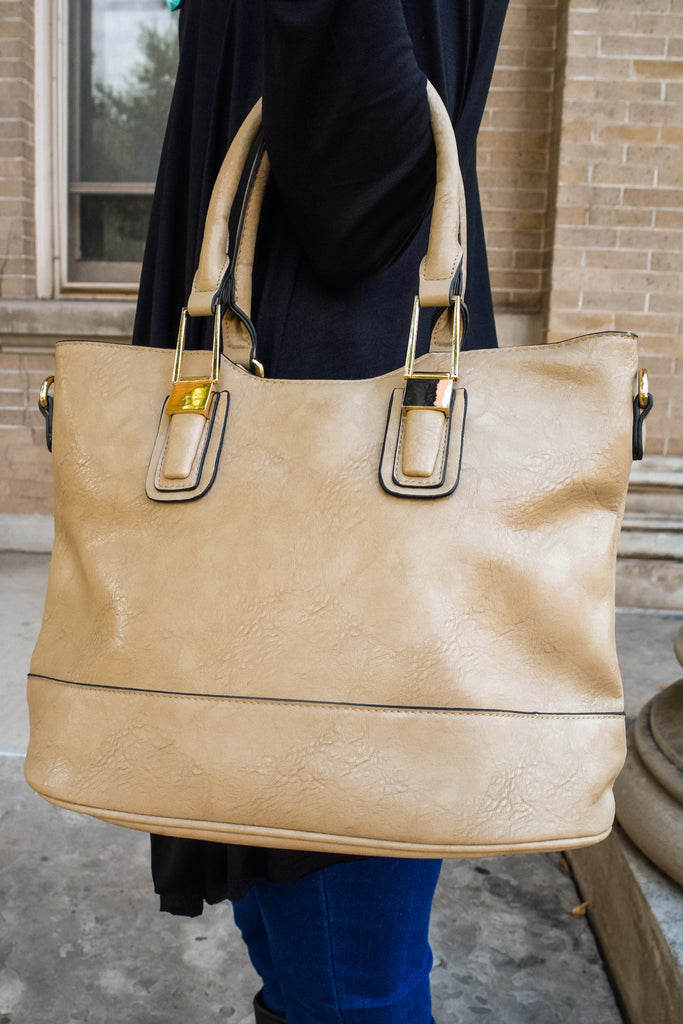 Colorado Chic Taupe Leather Shoulder Bag