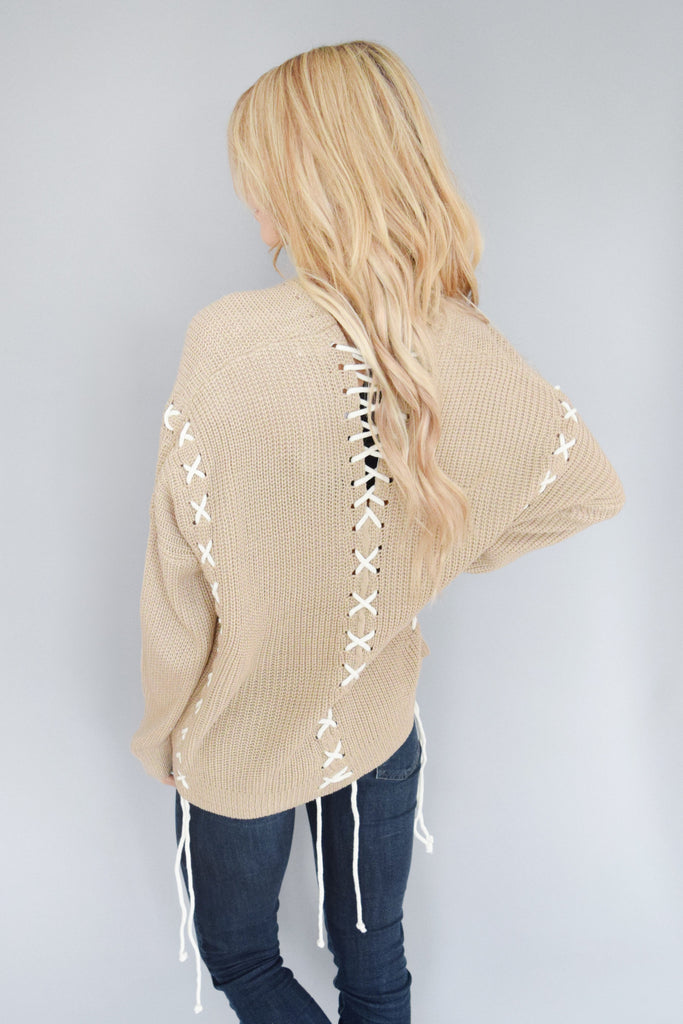 Through the Woods Taupe Sweater