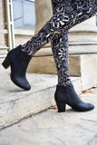 Trendy everyday black bootie