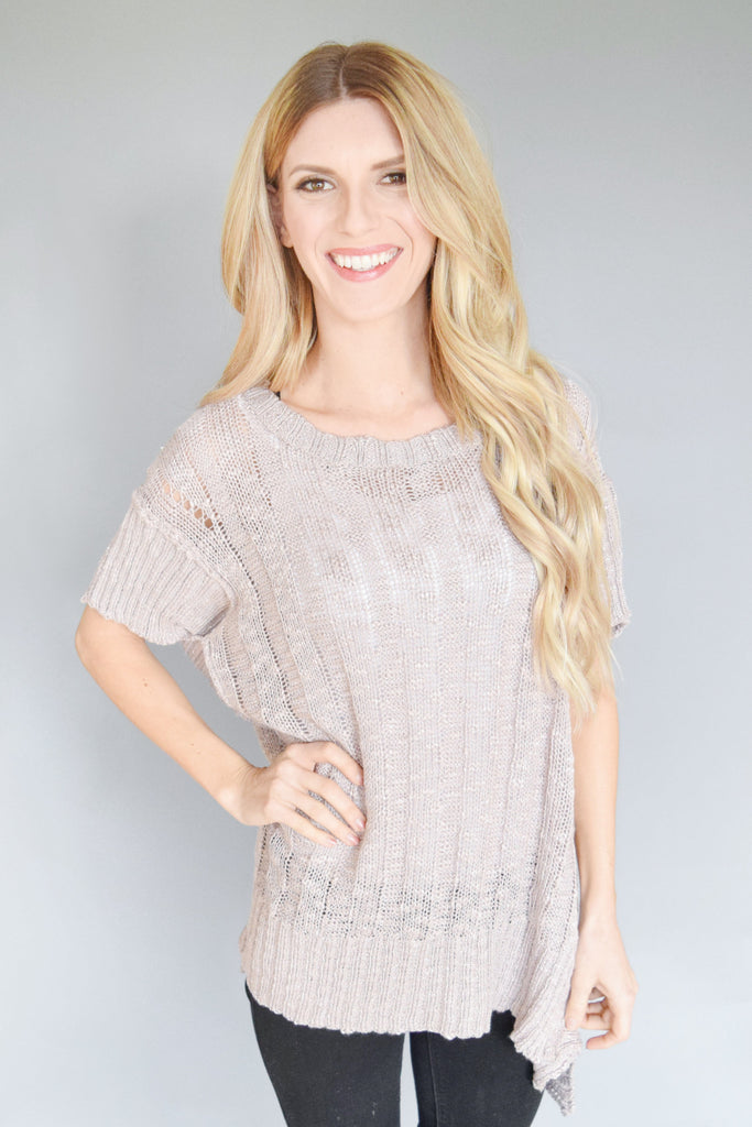 Moon Light Lilac Knit Tunic