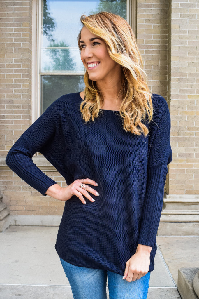 Affordable Online set sail navy sweater