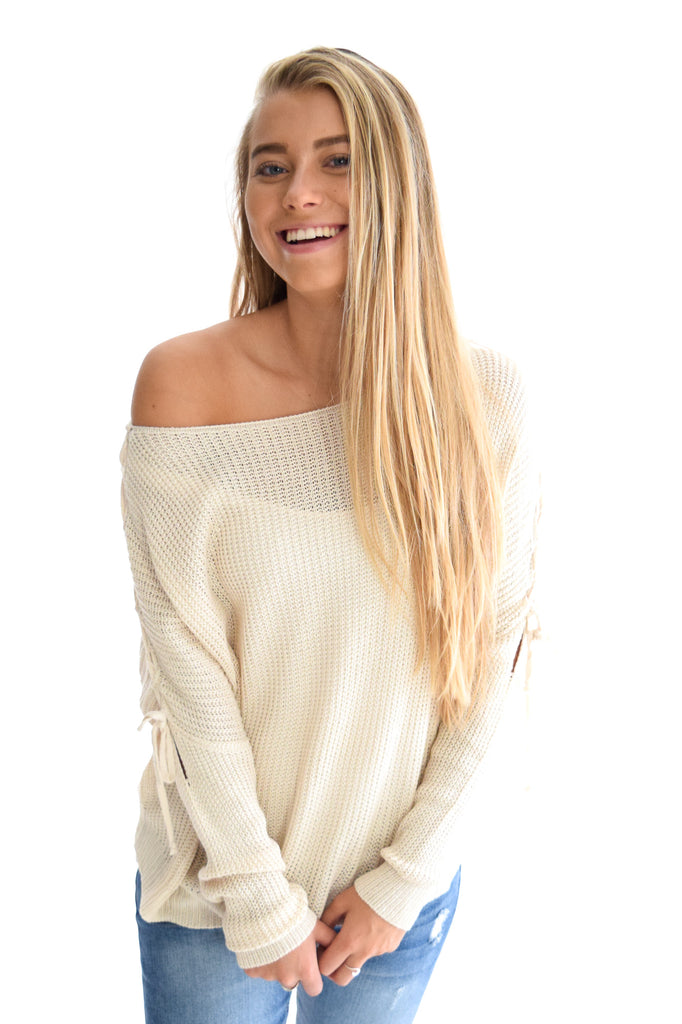 Criss Cross Shoulder Sweater