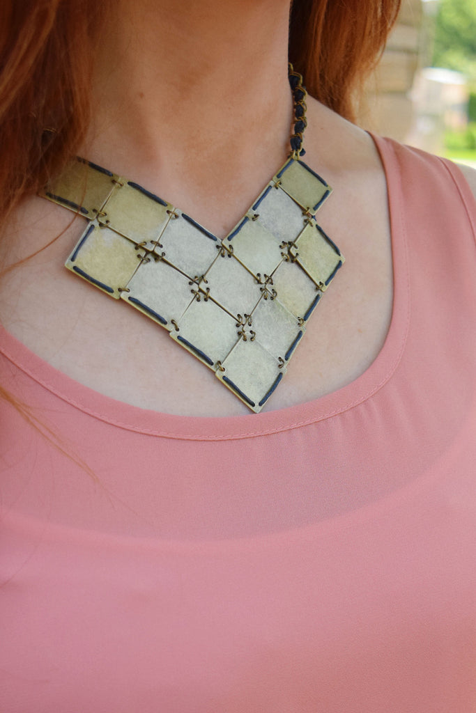 Womens Boutique Plated Statement Necklace