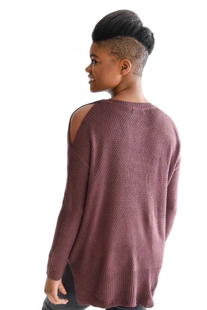 Manhattan Cold Shoulder In Plum