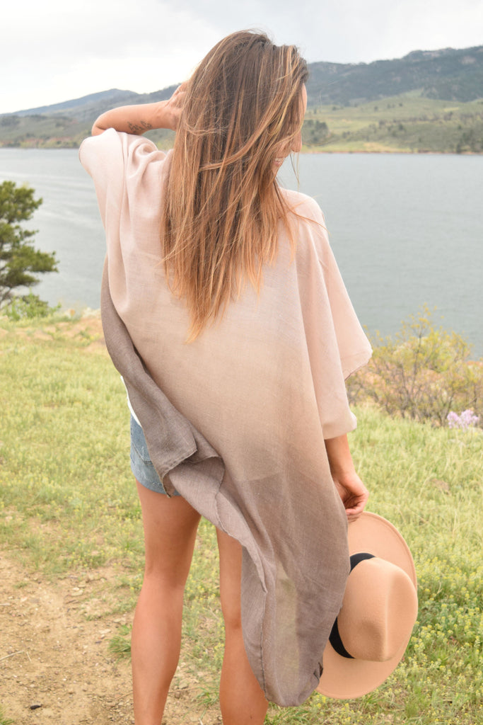 Affordable Online lightweight ombre kimono
