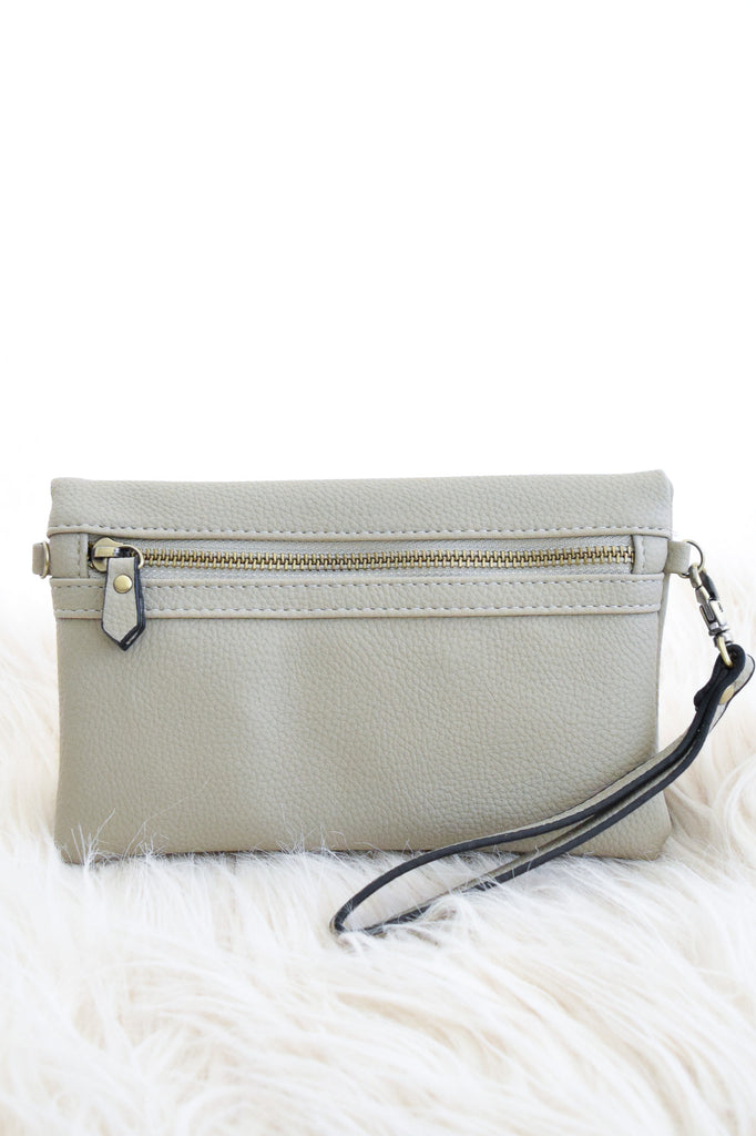 Riley Convertible Purse In Stone