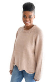 Happy Trails Sweater In Mocha