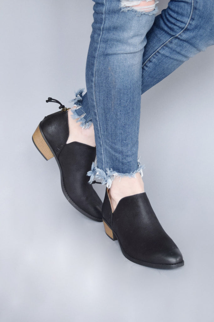 On My Way Ankle Bootie Black